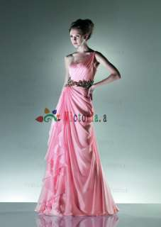 Stock Chiffon Quinceanera Prom/Evening/Cocktail/Party Dress Size 6 8