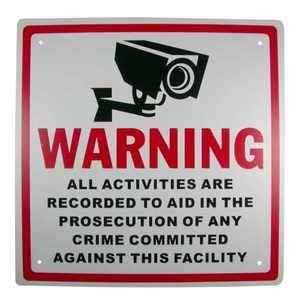 Video Surveillance Warning Crime Prevention Sign
