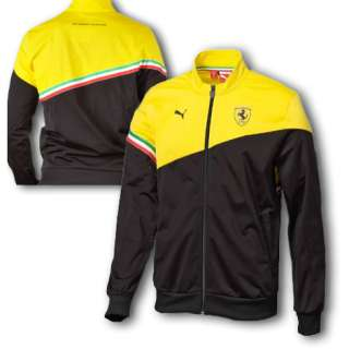 Puma Ferrari SF Duo Color Yellow Black Track Jacket SIZE L