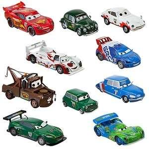 Cars 2 World Grand Prix Racer & Crew Chiefs 10 Piece Die Cast Set NEW