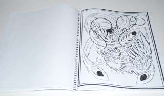 PHOENIX TATTOO FLASH JAPANESE STYLE ART SKETCH BOOK