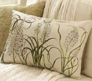 BARN Hyacinth Botanical Flower LUMBAR PILLOW COVER 16x26 NEW