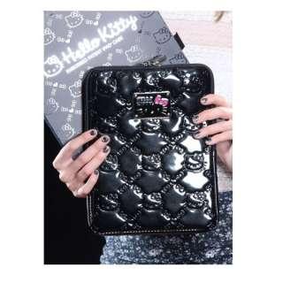 Hello Kitty Embossed Patent iPad Case  Black