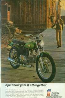 Harley Davidson 350 Sprint SS 1970 Motorcycle Ad