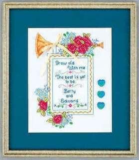 Cross Stitch Kit Wedding Anniversary Remembrance Grow