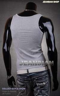 Shirt Vest Undershirt Tank Top Slim Sexy XS S M L XL D100 T