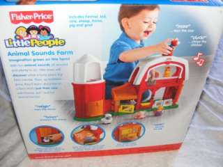 NEW Fisher Price Little People Animal Sounds Farm Toy