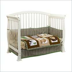 Da Vinci Thompson 4 in 1 Convertible Wood w/ Toddler Rail White Crib