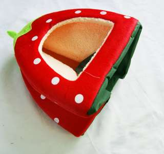 Foldable Strawberry Pet Nest Dog Bed Cat Bed 5 Colors Size L M S