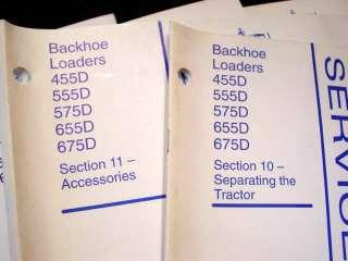 FORD NEW HOLLAND 455D 555D 575D 655D 675D TRACTOR LOADER BACKHOE