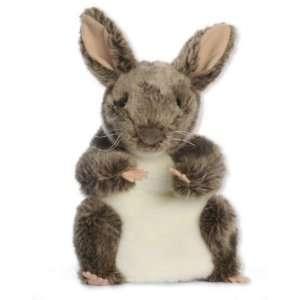 Handpuppe grau Hase Kaninchen Häschen Tier Haustier Bauernhof