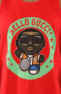 Rich Scampi The Hello Gucci Tank in Red  Karmaloop   Global