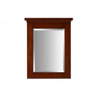 Pegasus Manchester 29 in. x 23 in.Birch Framed Wall Mirror in Mahogany