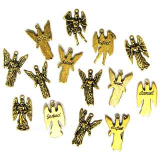 14 Tibetan Silver Gold Plated Archangel Charms Angels
