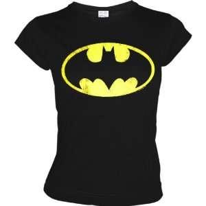 LOGOSHRT Retro Comic Damen T Shirt BATMAN LOGO   SCHWARZ Gr. XS