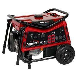Powermate 6,500 Watt Gasoline Powered Portable Generator PMC106507 at