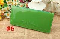 Cute Candy Color Clutch Hand Bag Wallet Woman Lady Purse Bear Logo