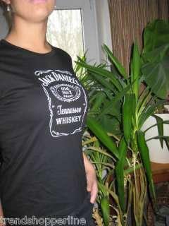 JACK DANIELS Whiskey schwarzes Shirt T Shirt LADY S/M
