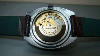 SUPERB VINTAGE FAVRE LEUBA DUOMATIC AUTO DAY DATE MENS WATCH OLD USED