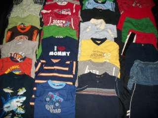 HUGE 35 LOT TODDLER BOYS 2T 3T SPRING SUMMER CLOTHES LOT SHORTS SHIRTS