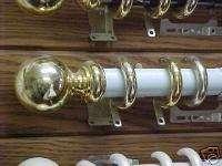 Kirsch 35 White & Brass Regatta Traverse Rod 100 180