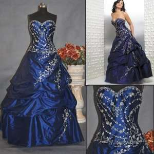 New Wedding Bridal Bridesmaid Gown Prom Ball Evening Dress​ Custom