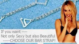 new clear crystal adjustable bra straps metal diamante