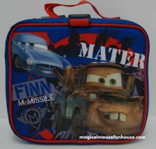 LICENSED DISNEY PIXAR CARS 2 Finn McMissile and Mater INSULATED LUNCH