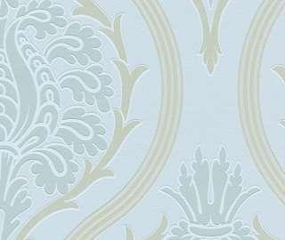 Neo Barock Rasch Tapete Vlies Modern Update 771619 Ornament hell blau