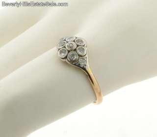 Antqiue Art Deco Plat Diamonds 18k Gold Ring