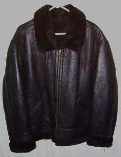 SHEARLING JACKET B 3 STYLE BOMBER FLIGHT JKT SUPER WARM BLACK SZ LARGE