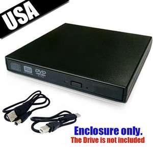 Slim USB External Case Caddy for Laptop SATA CD DVD RW Burner Drive US