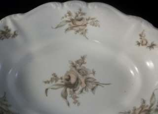 Haviland China Oval Vegetable Bowl Sepia Rose Pattern Bavaria Germany