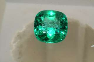 42,500 2.41CT AGL CERTIFIED NATURAL CUSHION CUT LOOSE EMERALD