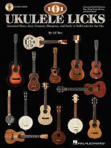 101 Ukulele Licks Uke BOOK/CD TAB Notes Blues Jazz Country Bluegrass