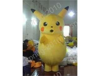 Cute Pikachu Pokemon Mascot Costume Fancy Dress Outfit