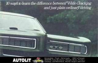 1968 Pontiac Brochure GTO Firebird Grand Prix Tempest
