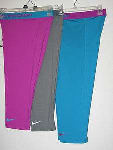 NWT$35 NIKE WOMENS PRO COMBAT BASE LAYER COMPRESSION CAPRI TIGHTS