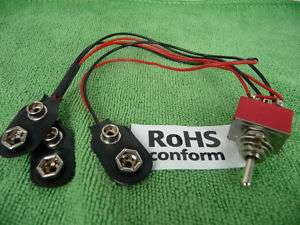 10pc 9V Off 18V Harness Mod Kit for EMG Active Pickups