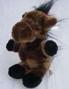 ASI 62960 Plush Brown/Black Horse/Pony Stuffed Animal