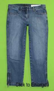 NY & Co sz 6 Capri Stretch Womens Blue Jeans Denim Pants FM85