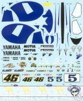 FULL DECAL TAMIYA 1/12 YAMAHA YZR M1 MOTO GP 06 WC ROSS