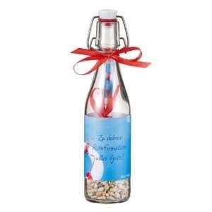 Zu deiner Konfirmation alles Gute!: Flasche mit Keramik