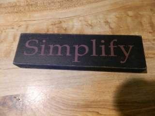 Simplify Black Shelf Block Sign