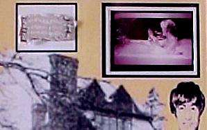 Beatles John Lennon Kenwood Home Real Bath Towel Display w/stand