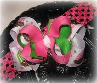 Birthday Cupcake Hair Bow Headband or Clip Girls Baby
