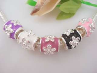 10pcs Silver Style Charm Spacer Beads Fit Bracelet MH19