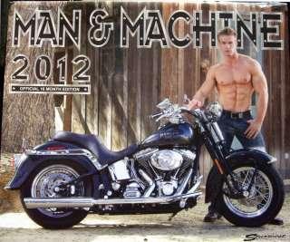 2012 Man & and Machine Calendar Harley Davidson Motorcycles