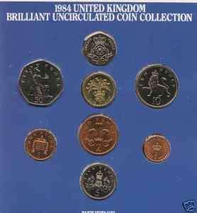 1983 United Kingdom Brilliant Uncirculated Coin Set