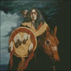 Native American Indian Themed v12 Cross Stitch Pattern